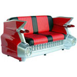 Cadillac Sofa Red Black