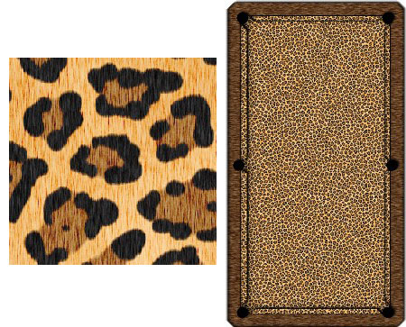 Leopard Pool Table Cover