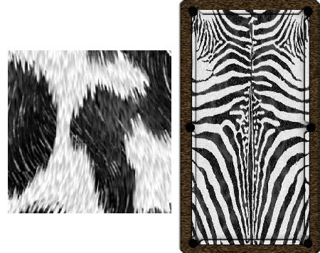Zebra Pool Table Cover