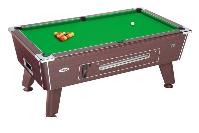 Omega 6 foot Mahogany Coin Operated Pool Table