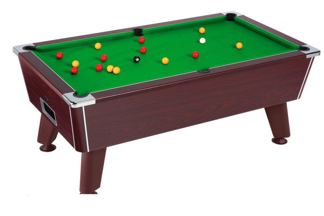 Omega Six Foot Free Play Mahogany Pool Table